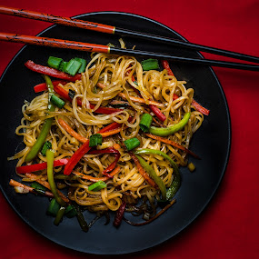 Chow Mein by Bogdan Rusu - Food & Drink Plated Food ( dinner, noodles, food, plated food, chinese,  )