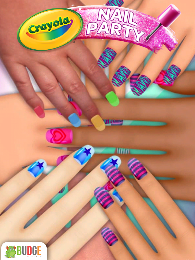 Crayola nail party nail salon android apps on google play for A nail salon game