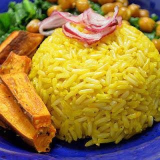 Sweet & Sour Saffron Rice Bowls