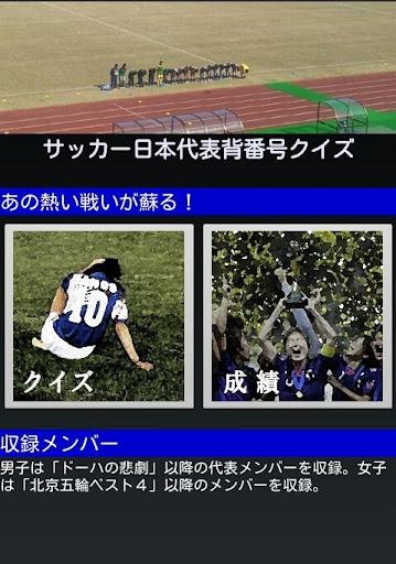 サッカー日本代表背番号クイズ