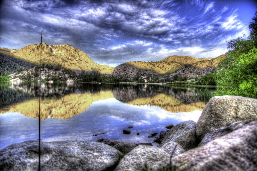 by Craig Collins - Landscapes Waterscapes ( water, hdr, june, mountian, lake, rocks, sun )