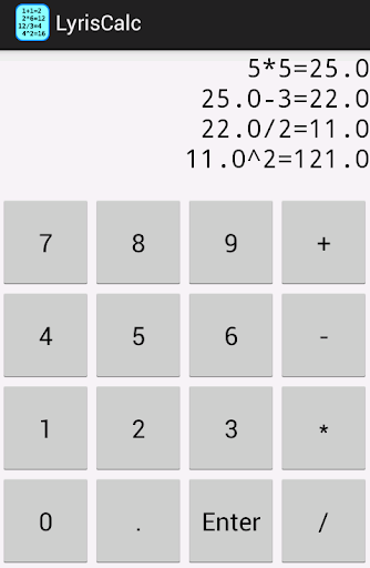 LyrisCalc Multiline Calculator