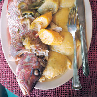 Boiled Fish with Onion Sauce and Fungi.