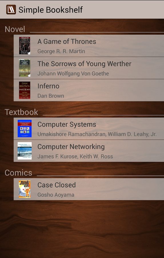 Simple Bookshelf- screenshot