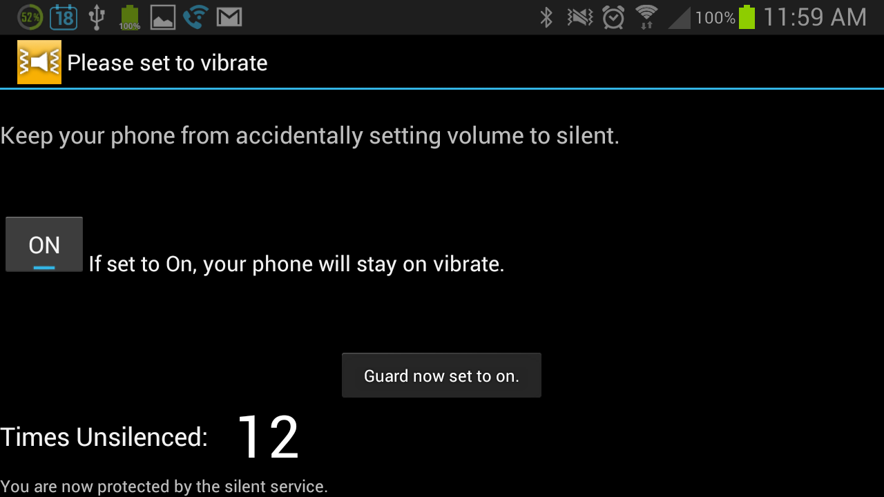 Please, set to vibrate- screenshot
