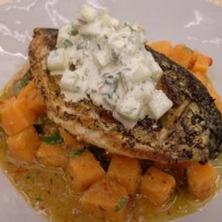 Mackerel With Spiced Sweet Potato And Lime Pickle