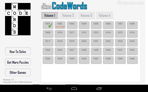dkm CodeWords- screenshot thumbnail