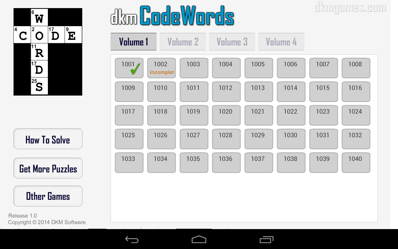 dkm CodeWords- screenshot