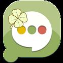 Pansi SMS Lucky Clover theme logo