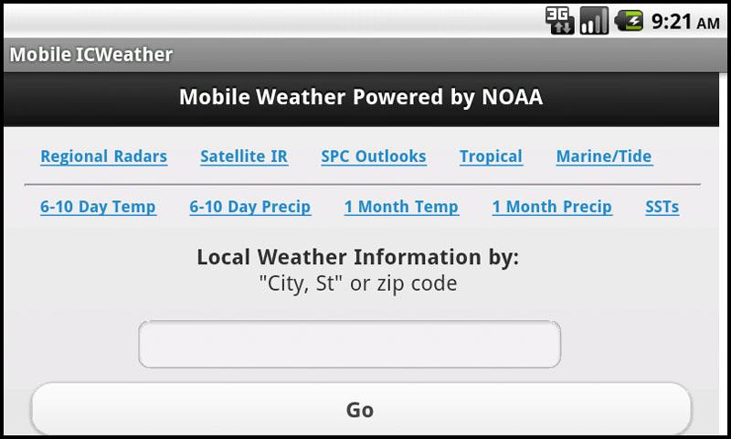 Mobile Weather Powered By NOAA- screenshot