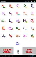Screenshot of Zoo Alphabet (adfree)