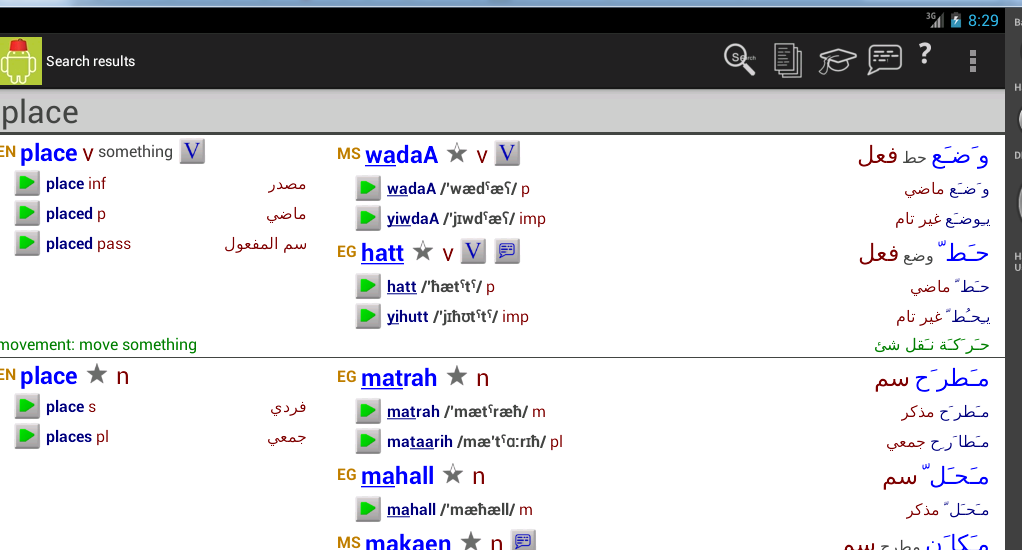 nice to meet you in egyptian arabic dictionary