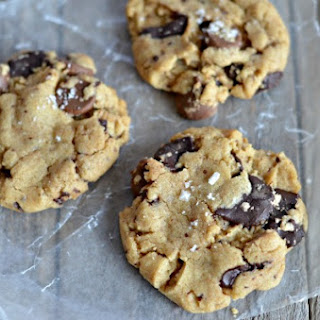 Salted Chocolate Chunk Peanut Butter Cookies