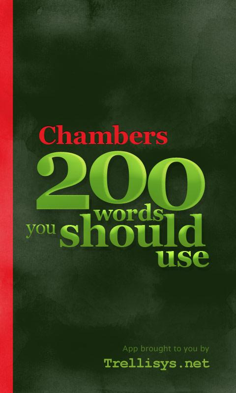 Chambers 200 Words-Should Use- screenshot