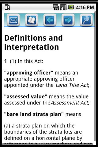 BC Strata Property Act Pro App- screenshot