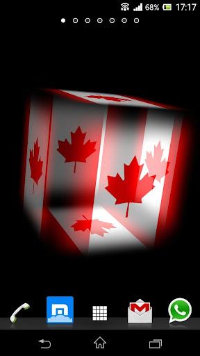 3D Canada Cube Flag LWP