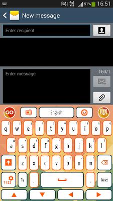 Smartphone Keyboard - screenshot