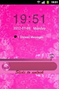 GO Locker Theme Pink Cute Star - screenshot thumbnail