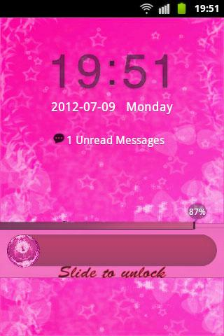 GO Locker Theme Pink Cute Star- screenshot