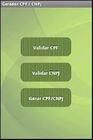 Screenshot of CPF / CNPJ Gerador e Validador