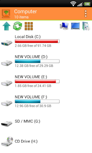 WiFi PC File Explorer Silver