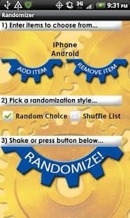 Randomizer Lite- screenshot thumbnail