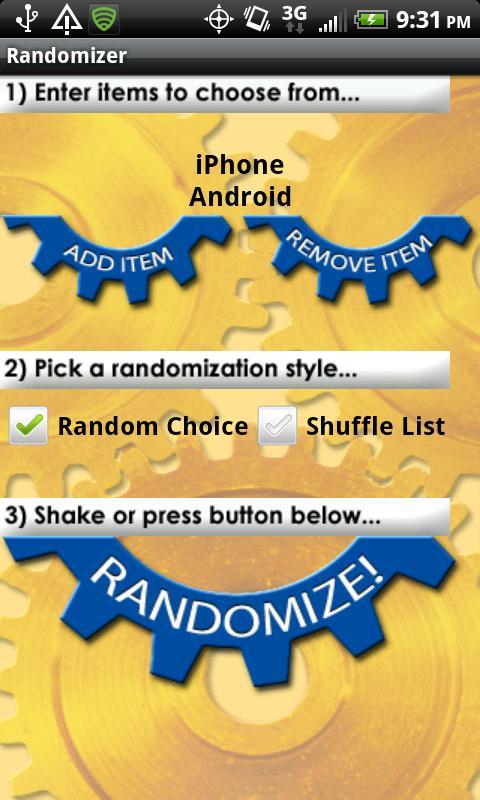 Randomizer Lite- screenshot