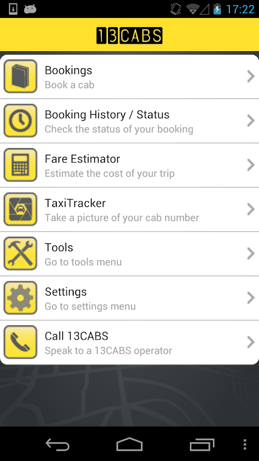 13CABS Taxi- screenshot
