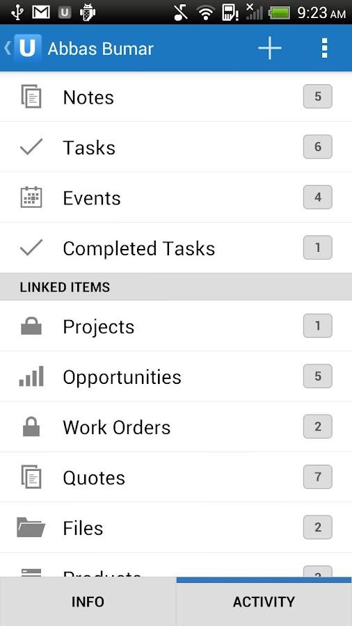 Upvise Pro CRM- screenshot