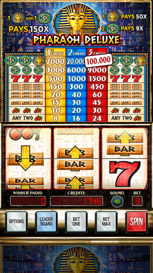 Pharaoh Deluxe Slots- screenshot