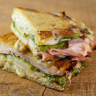 Pressed Pear, Ham and Cheese Sandwiches.