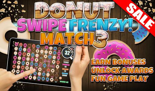 Donut Swipe Match Three Puzzle