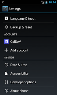 CalDAV-Sync - screenshot thumbnail