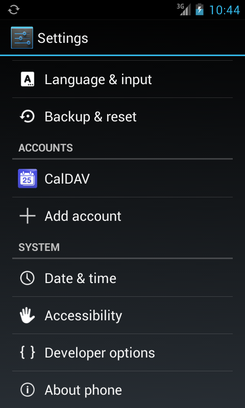 CalDAV-Sync - screenshot
