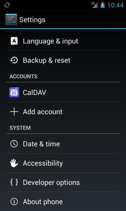 CalDAV-Sync - screenshot