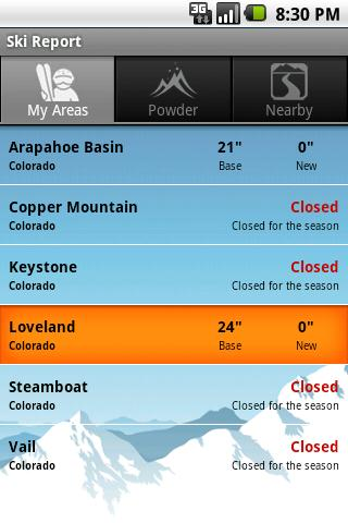 Ski & Snow Report - screenshot