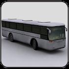 Aparcamiento de autobús 3D icon