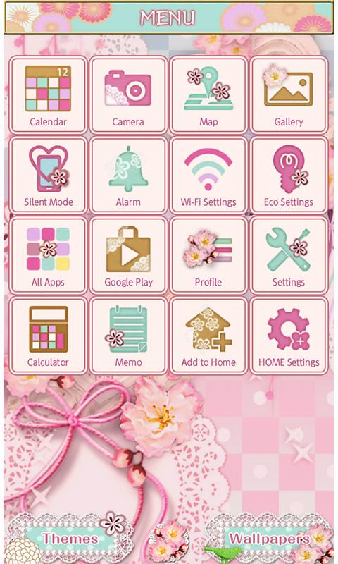 Japanese Lace Wallpaper Theme- screenshot