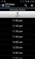 Screenshot of ETS Stops