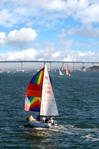 Sailboats in San Diego, California.