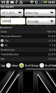 tax zap - UK tax calculator- screenshot thumbnail