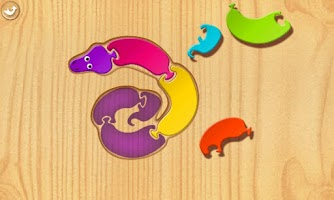 Screenshot of First Kids Puzzles: Snakes