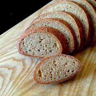 Whole Grain, No-Knead Sourdough Bread