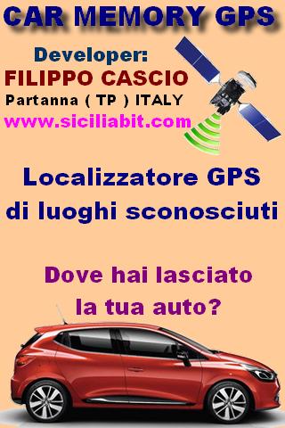 Car memory GPS localizzatore