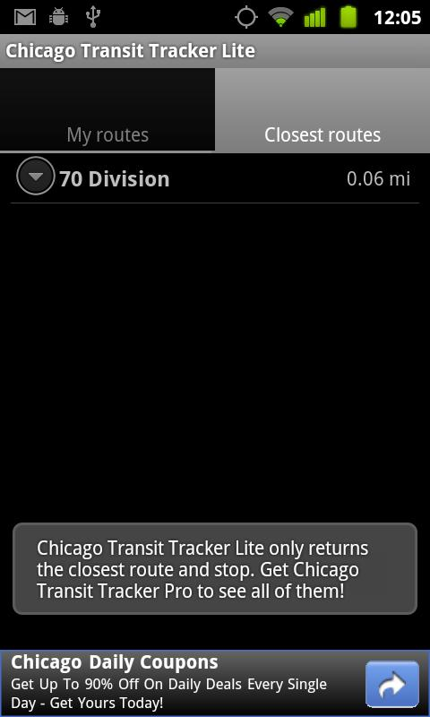 Chicago Transit Tracker Lite - screenshot