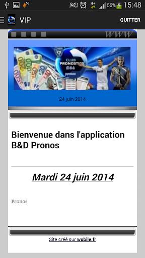 B D Pronos