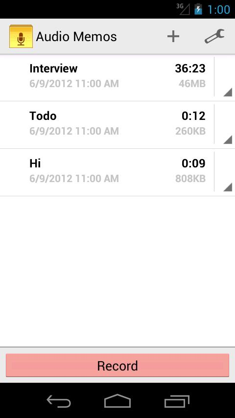 Audio Memos - screenshot