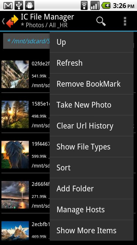 IC File Manager- screenshot