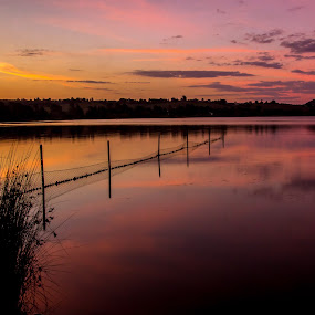 Lake Wallace sunset by David Spillane - Landscapes Waterscapes ( water, mountains, waterscape, colorful, sunset, lake )