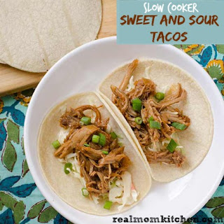 Slow Cooker Sweet and Sour Tacos.